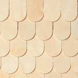 "1/2"" Scale Fish Scale Shingles"