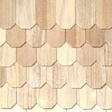 Unfinished Hexagon Wood Shingles 1000 Pieces