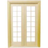 "1/2"" Scale Double French Door"